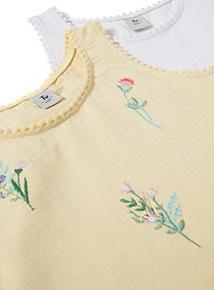 2 Pack Multicoloured Fleur Vests (3-14 years)