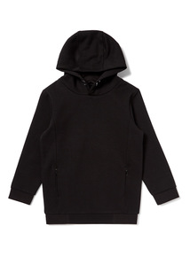 Black Hooded Pull Over Sweatshirt (3-14 years)