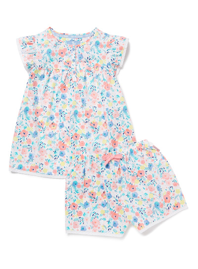 Multicoloured Woven Floral Pyjamas (3-14 years)