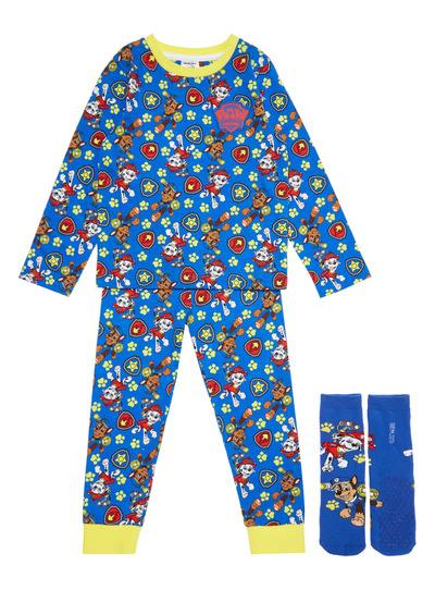 Blue Paw Patrol Pyjama Set With Socks (1-7 years)
