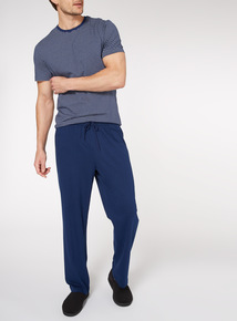 Blue Stripe Print T-Shirt and Jersey Trousers Pyjamas