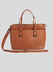 Tan Multi Compartment Shoulder Bag