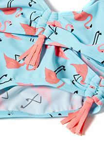 Blue Flamingo Print Bikini (5-14 years)
