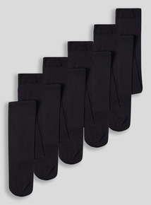 Black Opaque Tights 5 Pack (3 - 16 years)