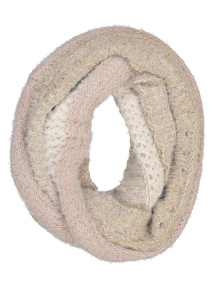 Beige Knitted Snood