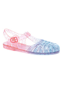 Pink Ombre Closed Toe Jelly Sandals