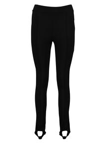 Black Glitter Side Panel Stirrup Leggings
