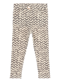 Cream Chevron Leggings (9 months - 6 years)