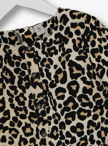 Multicoloured Leopard Print Top & Leggings Set (3-14 years)