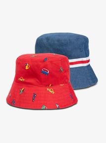 5735de4ccf037 Multicoloured Bucket Hat 2 Pack (1-9 Years)