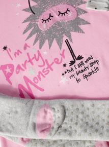 Monster Long Sleeve Nightie With Socks (3-13 Years)