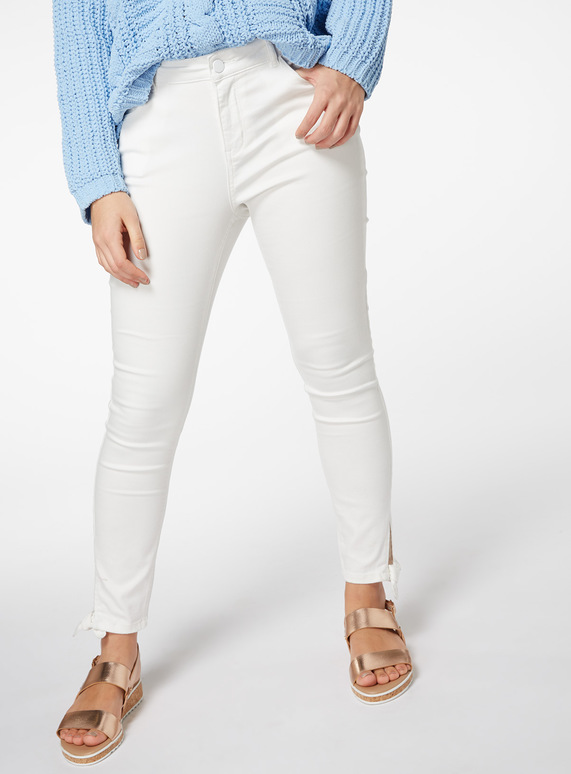 Bow Detail Skinny Jeans