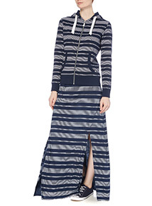 Navy Stripe Hoody