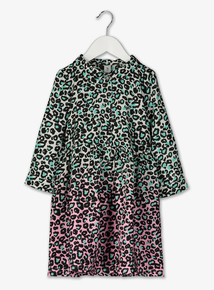 Multicoloured Leopard Print Shirt Dress (3-14 years)