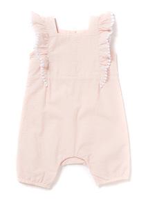 Pink Frill Bibshort (Newborn-12 months)