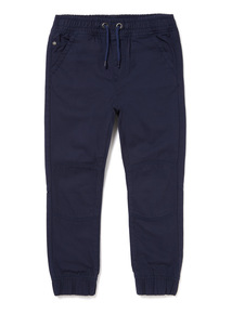 Navy Rib Waist Trousers (3-14 years)