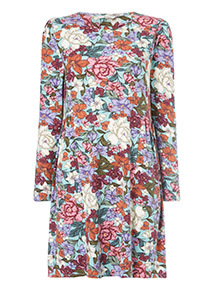 Multicoloured Floral Swing Dress