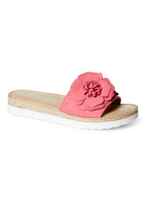 'Made In Italy' Pink 'Sole Comfort' Floral Sliders