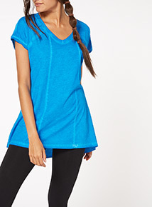 Blue Oil Washed Tee
