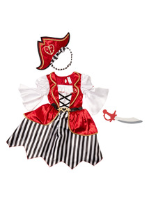Multicoloured Pirate Girl Costume (2 - 10 years)