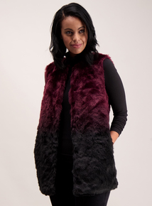 Purple Ombre Faux Fur Gilet