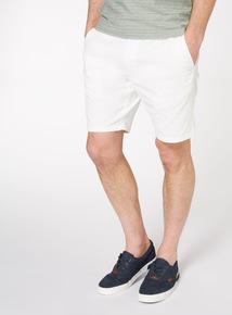 Off White Chino Shorts