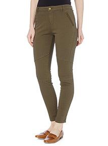 Khaki Utility Skinny Jeans