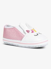 Multicoloured Glitter Unicorn Shoes (0-18 months)