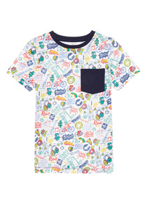 Multicoloured Pattern Tee (9 months - 6 years)