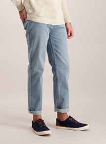 Light Blue Straight Leg Denim Jeans