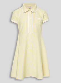 Yellow Generous Fit Gingham Dress (3 - 12 years)