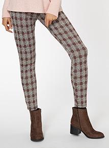 Check Print Legging