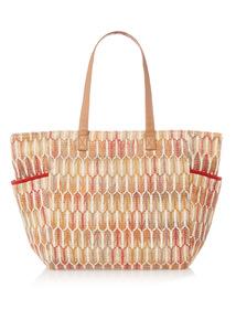 Multicoloured Zig Zag Beach Bag