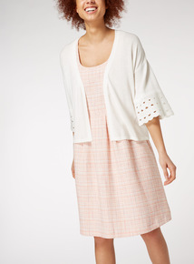 Cut Out Sleeve Cardigan