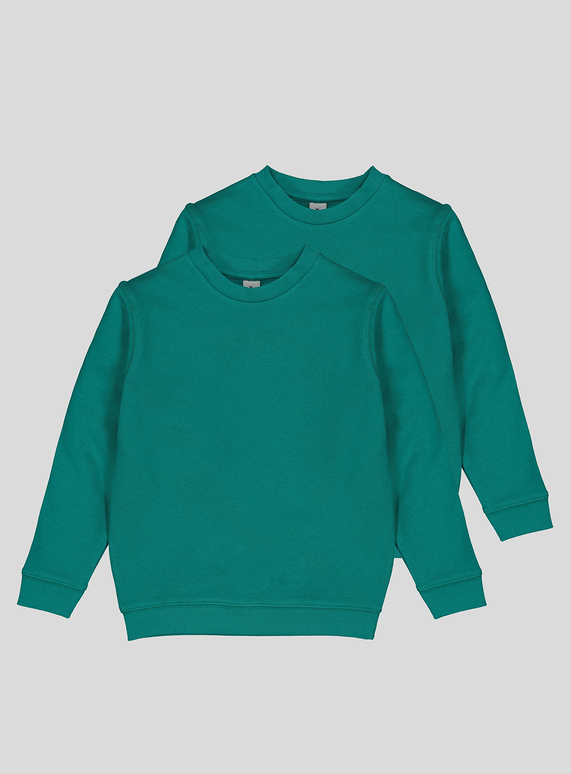 Jade Crew Neck Sweatshirt 2 Pack (3-12 years)
