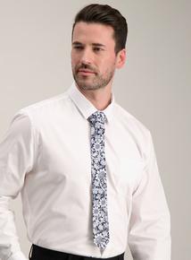 Navy Floral Print Tie