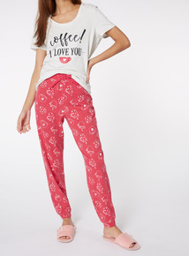 Slogan Short-Sleeved Pyjamas