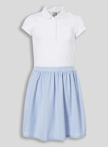 Blue Gingham School Dress