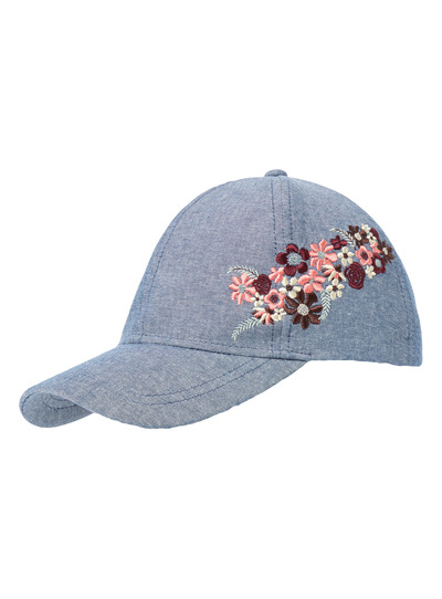 Womens Denim Embroidered Cap  0a8d365a9c