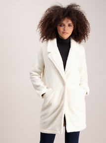 Cream Teddy Overcoat