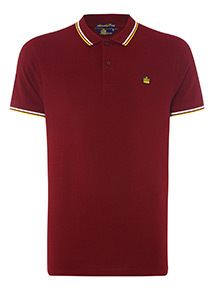Admiral Burgundy Tipped Polo