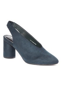 Navy Slingback Courts
