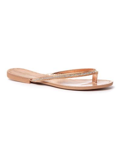 Diamanté Strap Flip Flop Sandals