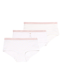 Geometric Patterned Boy Shorts 3 Pack (5 - 14 years)