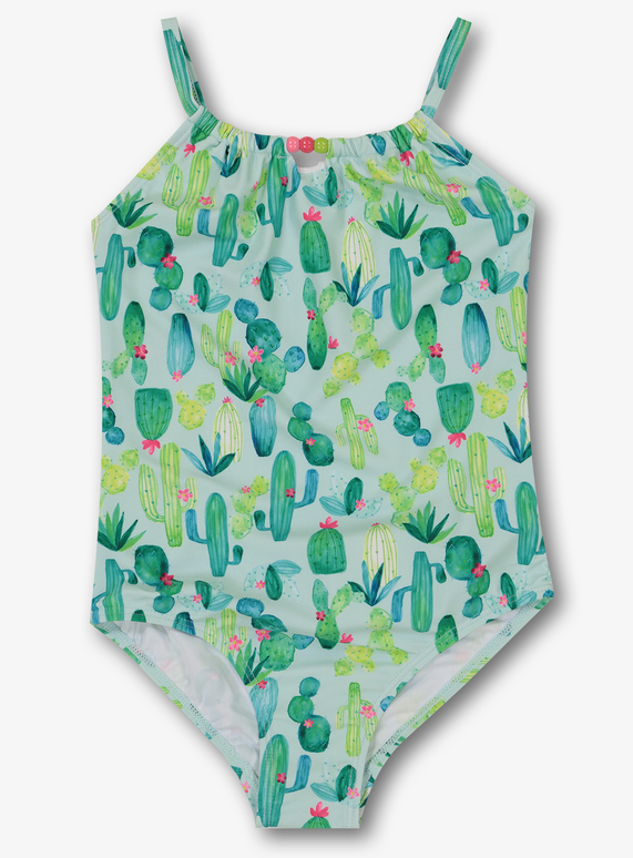 6e009e066a9d9 Kids Green Cactus Swimming Costume (3-12 Years) | Tu clothing