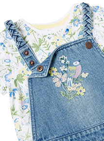 Denim Bibshort and Floral T-Shirt Set (9 months-6 years)
