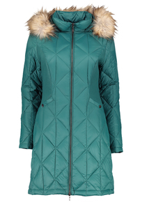 Green Padded Feather & Down 3 Tog Coat