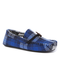 Tartan Thinsulate Textile Moccasin Slippers