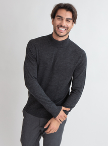 Premium Charcoal Grey Roll Neck
