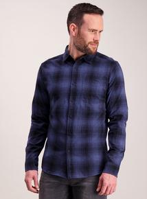 Blue Ombre Regular Fit Check Shirt